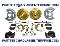 1965-69 MUSTANG HI-PO Disc Brake Conversion Kit V-8