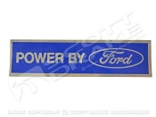 "DECAL DIMENSIONS: 7 3/4"" X 2"" FINISH: BLUE BACKGROUND WITH BRUSHED SILVER LETTERING AND BORDER"