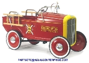 1932 FORD FIRE ENGINE W/ACCESSORIES PEDAL CAR