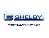 CARROLL SHELBY CS / SHELBY DECAL