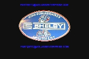 "CARROL SHELBY HIGH PERFORMANCE OVAL 10"" DECAL"