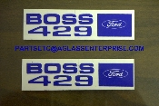BOSS 429  VALVE COVER DECALS NEW PAIR