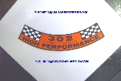 68-69 Air Cleaner Decal (302 Hi-Po)