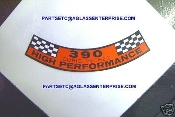 67-78 Air Cleaner Decal (390 Hi-Po)
