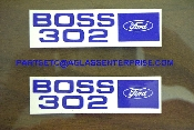 Boss 302 Valve Cover Decals / pair