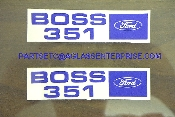 Boss 351 Valve Cover Decal / pair