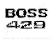 69-70 Boss 429 Fender Decal