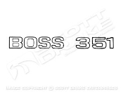 Boss 351 Trunk Decal