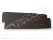 1969-70 Trunk Filler Board (Black chipboard)