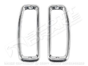 1967-77 Bronco Tail Light Bezels (Stainless-Steel, Pair)