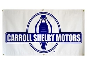 Carroll Shelby snake circle Blue/white